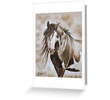 The Bald Faced Stallion Greeting Card