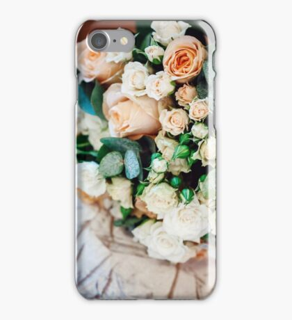 Bouquet with White and Cream Roses  iPhone Case/Skin