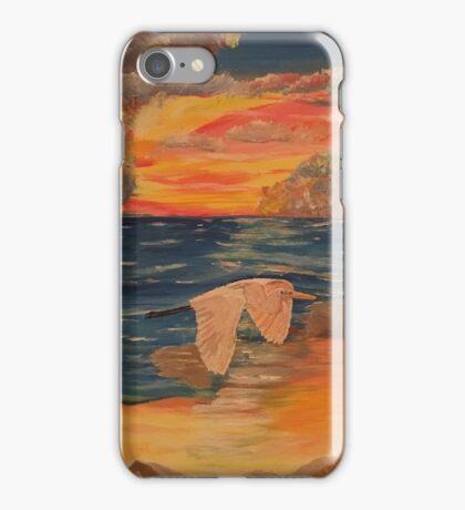 Snowy Egret Sunset iPhone Case/Skin
