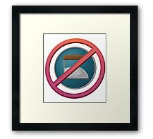 Ironing is BAD Framed Print