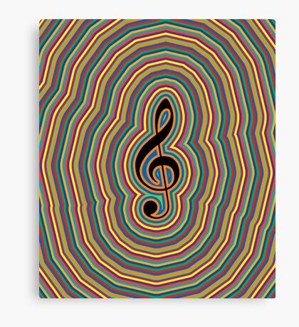MUSIC WAVES (G-Note) Canvas Print