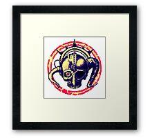 Cyborg Viking Skull Framed Print