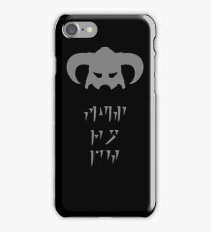 Skyrim Dovahkiin Fus Ro Dah iPhone Case/Skin