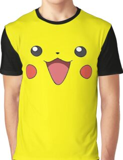Pikachu Face Graphic T-Shirt