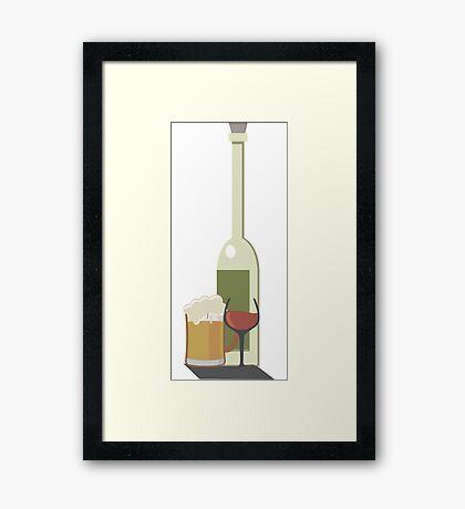 Wine Beer Alcohol Framed Print