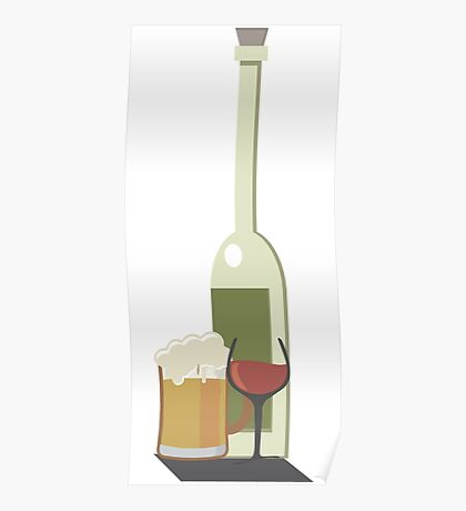 Wine Beer Alcohol Poster
