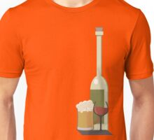 Wine Beer Alcohol Unisex T-Shirt