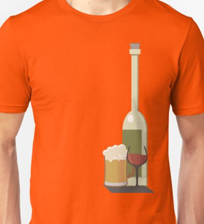 Wine Beer Alcohol Unisex T-Shirt