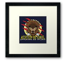 MOONSTRUCK AND HOWLING Framed Print