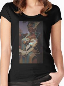OVERWATCH SYMMETRA Women's Fitted Scoop T-Shirt