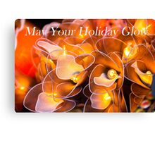 A Glowing Holiday Wish Canvas Print