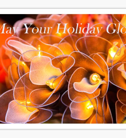 A Glowing Holiday Wish Sticker