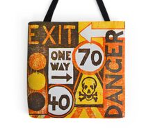 Sign Board Tote Bag