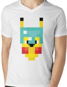 Pixel PokeCraft Mens V-Neck T-Shirt