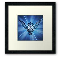 Wing & Crown stamp art Framed Print
