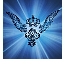 Wing & Crown stamp art Photographic Print