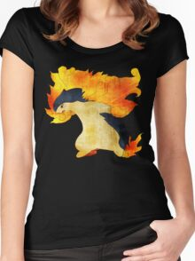 Typhlosion- The Volcano Pokemon Women's Fitted Scoop T-Shirt