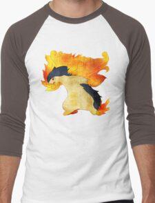 Typhlosion- The Volcano Pokemon Men's Baseball ¾ T-Shirt