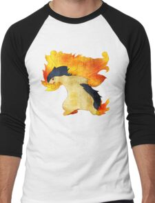 Typhlosion- The Volcano Pokemon Men's Baseball ¾ T-Shirt