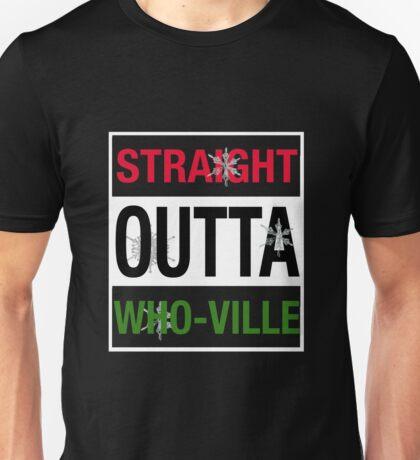 Straight Outta Who-Ville Christmas t shirt  Unisex T-Shirt