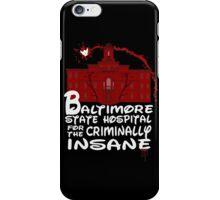 baltimore state hospital for the criminally insane (2) - disney iPhone Case/Skin