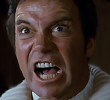 William Shatner Captain Kirk / Khan digital painting by verypeculiar