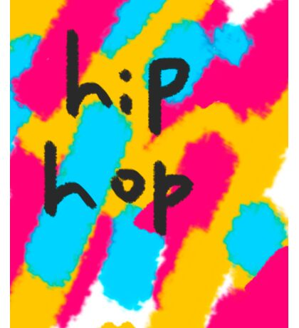hip hop abstract painting  Sticker
