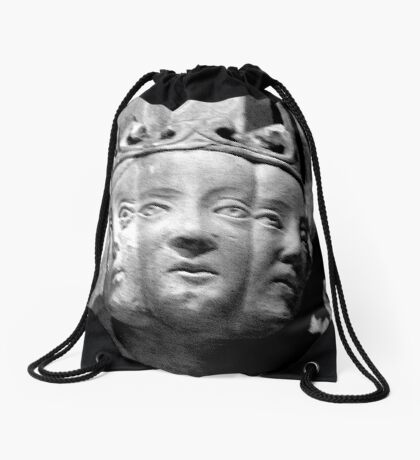 Stone carved  medieval damsels Drawstring Bag
