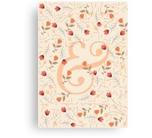 Floral Ampersand Canvas Print