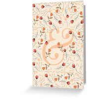 Floral Ampersand Greeting Card