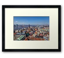 Top of Riga Framed Print
