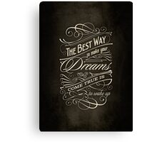 The Best Way | Typography Canvas Print