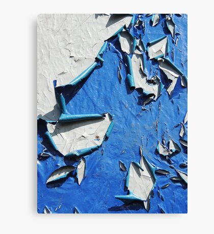 Blue-White Abstract Canvas Print