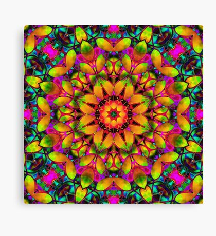 kaleidoscope Floral Abstract  Canvas Print