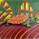 409 - ALLIGATOR SNAPPING TURTLE - DAVE EDWARDS - COLOURED PENCILS - 2014 by BLYTHART