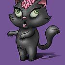 Black Cat Zombie by helenasia