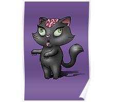 Black Cat Zombie Poster