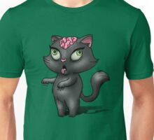Black Cat Zombie Unisex T-Shirt
