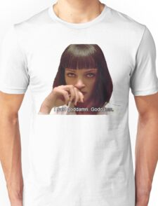 Pulp Fiction - Mia Wallace Face Unisex T-Shirt