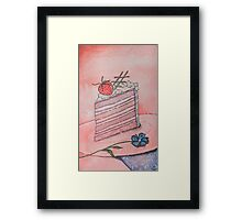 Strawberry cake Framed Print