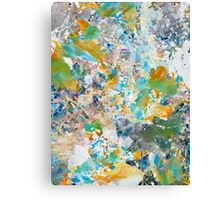Springtime Painted Abstract Canvas Print