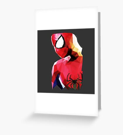 Low Poly Spider-Man Greeting Card