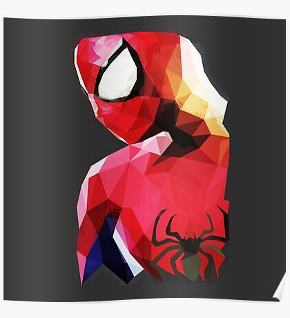 Low Poly Spider-Man Poster