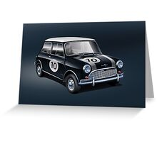 Mini black Greeting Card