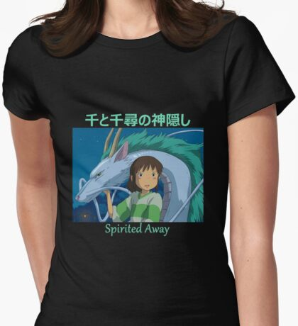 Spirited Away -  Haku and Chihiro - (Designs4You) - Studio Ghibli Womens Fitted T-Shirt