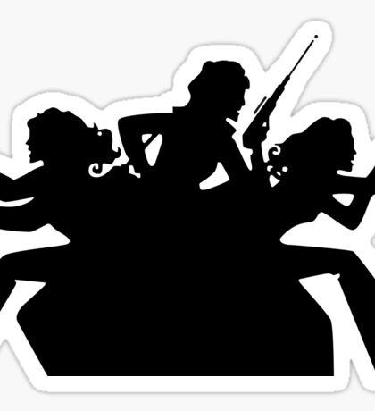 Charlie's angels logo black Sticker