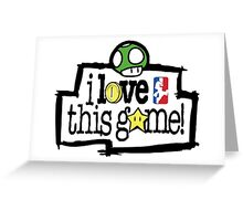 I love this Game ( Mario) Greeting Card