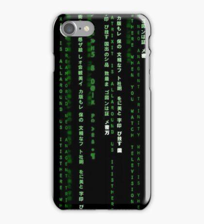 matrix code iPhone Case/Skin