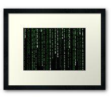 matrix code Framed Print