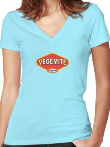 Vegemite Women's Fitted V-Neck T-Shirt